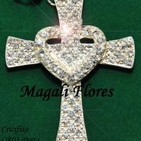 Maravilhoso crucifixo pode ser utilizado em qualquer modelo de nossos terços.